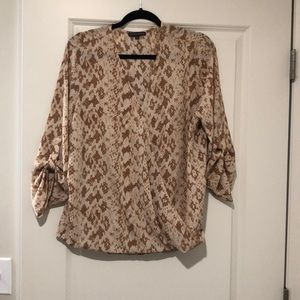 Adrianna Papell wrap blouse